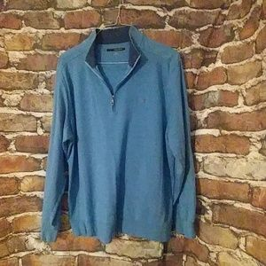 👍Greg Norman 3/4 Zip Long Sleeve Sweater Jacket